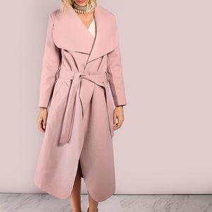 Jackets & Blazers - 🔥 Chic pink lapel coat